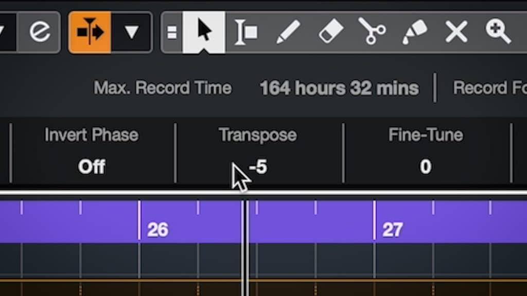 snare sample transpose