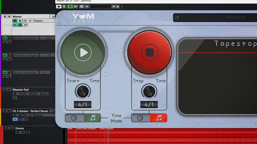 yum audio tapestop temposync